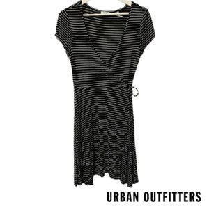 Urban Outfitters Striped Faux Wrap Dress
